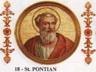 O papa Ponciano renunciou em 235 d.C Foto: Reprodução