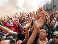 Torcedores do Al-Ahly comemoram sentença Foto: AP