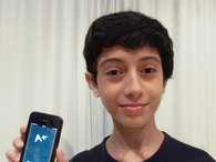 Rio: estudante de 12 anos cria aplicativo para calcular notas