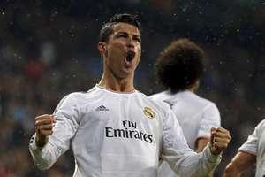 Cristiano Ronaldo comemora 14º gol na Liga dos Campeões; português iguala recorde deMazzola eMessi Foto: Reuters