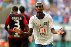 Anderson Talisca fez o primeiro gol do Bahia na vitória Foto: Edson Ruiz / Gazeta Press