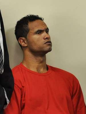 O goleiro Bruno, em foto de março, durante seu julgamento pela morte de Eliza Samudio Foto: Renata Caldeira/TJ-MG / Divulgação
