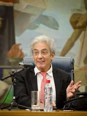 Albert Fert,  Nobel de Física de 2007 Foto: Thiago Cruz, UFRGS / Divulgação