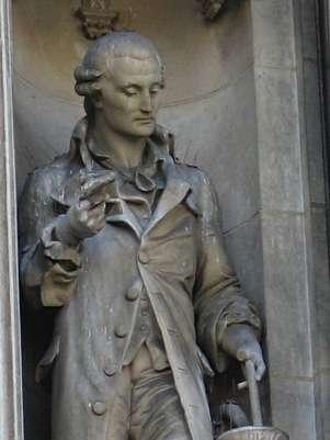 Estátua de Lavoisier no Hôtel de Ville de Paris. Francês é considerado pai da química moderna Foto: Wikimedia