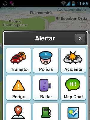 Aplicativo de geolocalização Waze é abastecido com informações do trânsito fornecidos pelos próprios usuários Foto: Divulgação