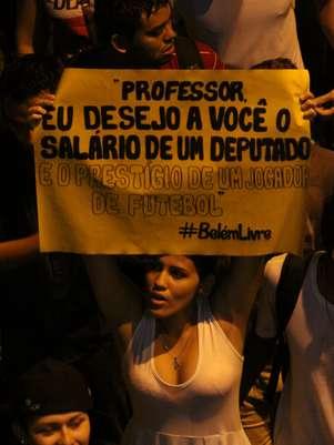 Durante a manifestação, cada grupo escolheu o motivo do seu protesto Foto: Filipe Faraon / Especial para Terra