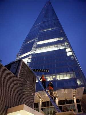Edifício em Londres tem o título de mais alto da Europa Ocidental Foto: Twitter / Reprodução