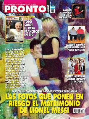 Messi está na capa da revista argentina 'Pronto' Foto: Divulgação