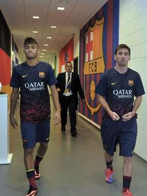 Neymar e Messi não chegaram a jogar juntos na Polônia Foto: Getty Images