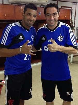 André Santos e Chicão jogaram juntos no Corinthians e foram campeões Foto: Instagram / Reprodução