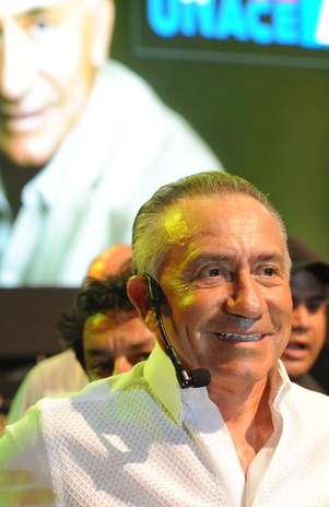 Lino Oviedo (1943-2013), general reformado e candidato presidencial pela Unace (foto de 12 de janeiro de 2013) Foto:  / AFP