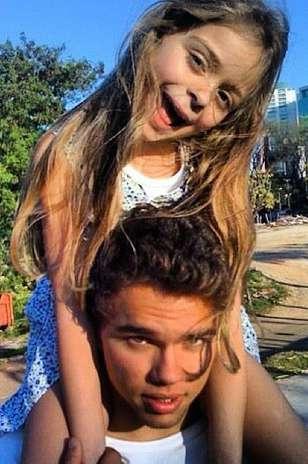 Os filhos de Junno, Luana e Vinicius Foto: Instagram / Reprodução