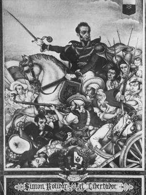 Arte reproduz Simón Bolívar, o Libertador, por volta do ano de 1820 Foto: Getty Images