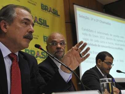 O ministro falou sobre o desempenho das universidades durante coletiva sobre as inscrições no Sisu Foto: Valter Campanato / Agência Brasil