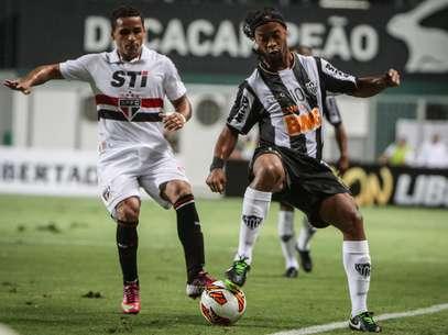 Ronaldinho foi o grande nome da partida entre Atlético-MG e São Paulo Foto: Bruno Cantini/Atlético-MG / Divulgação