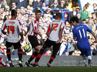 Oscar fez um golaço de letra para o Chelsea Foto: Reuters
