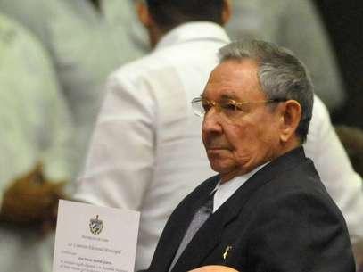 O presidente cubano, Raúl Castro, foi reeleito hoje para seu último mandato Foto: EFE