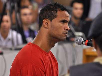No início de março, o goleiro Bruno Fernandes foi condenado pela morte de sua ex-amanteEliza Samudio Foto: Renata Caldeira/TJ-MG / Divulgação