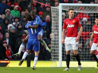 Oscar fez boa jogada, e Ramires fez o gol de empate do Chelsea Foto: Getty Images