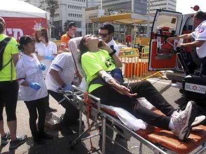 Além de uma morte, temperatura alta da meia-maratona em Israel causou 24 internações; 12 dos hospitalizados estão em estado grave Foto: AP