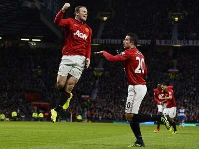 Wayne Rooney fez gol da vitória do United Foto: Reuters