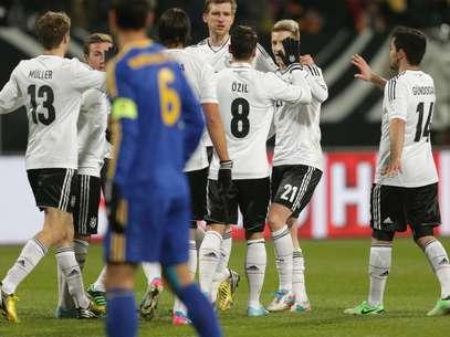 Alemanha goleou Cazaquistão por 4 a 1 nesta terça Foto: AP