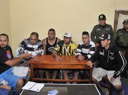 Corintianos estavam presos desde a morte do garoto Kevin Espada, em 20 de fevereiro Foto: AFP
