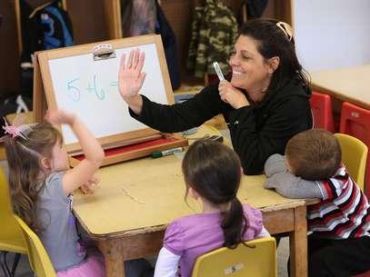 A educação básica tornou-se obrigatória a partir dos 4 anos de idade Foto: Getty Images