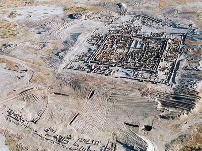 Imagem de 2004 mostra a cidade antiga de Gonur-Tepe Foto: AFP