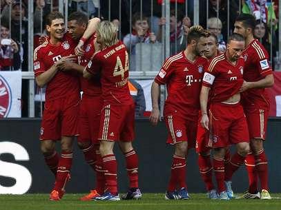 Campeão antecipado do Campeonato Alemão, o Bayern goleou o Nuremberg com seu time reserva Foto: AP