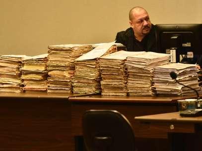 Primeira etapa do julgamento do Carandiru começounesta segunda-feira no Fórum Criminal da Barra Funda (zona oeste) Foto: Fernando Borges / Terra