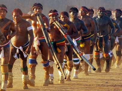 A ideia é preservar a língua falada por tribos indígenas no Brasil Foto: AFP