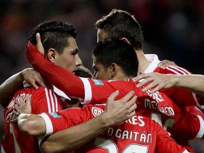 Benfica comemorou empate porque tinha vencido no primeiro jogo Foto: EFE