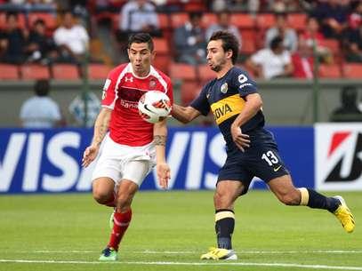 Boca poderia ter assumido a liderança do Grupo 1, mas foi derrotado no México Foto: EFE