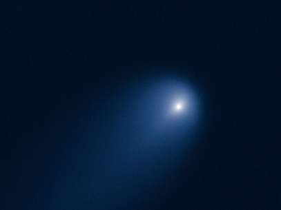 Hubble registrouem abril o cometa que poderá brilhar tanto quanto a Lua Cheia Foto: NASA & ESA / Divulgação