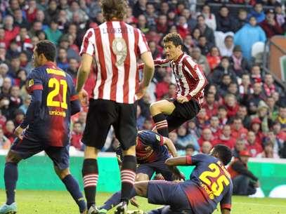 Ander Herrera empatou o jogo nos últimos minutos Foto: EFE