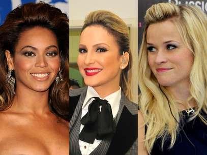 Beyoncé, Claudia Leitte e Reese Witherspoon mostram que o topete está com tudo Foto: TV Globo/João Miguel Júnior e Getty Images