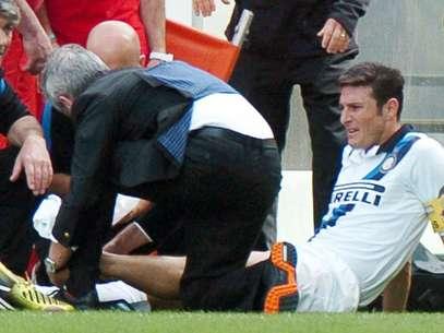 Zanetti segue em recuperação de lesão no pé Foto: EFE