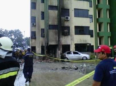 Imagem mostra prédio afetado pelo acidente Foto: EFE
