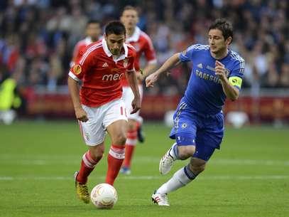 Chelsea, de Lampard, bateu o Benfica na final da Liga Europa Foto: Reuters