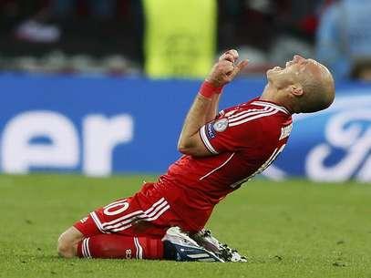 """Depois de sofrer com a pecha de """"amarelão"""", Robben deu a volta por cima ao ser o nome da final da Liga dos Campeões Foto: Reuters"""