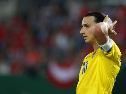 Ibrahimovic lamenta derrota da Suécia para a Áustria Foto: Reuters