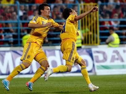 A Ucrânia goleou Montenegro por 4 a 0 fora de casa Foto: Reuters