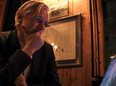 """Assange acusou o governo dos Estados Unidos de tentar """"lavar"""" suas atividades de espionagem Foto: AP"""