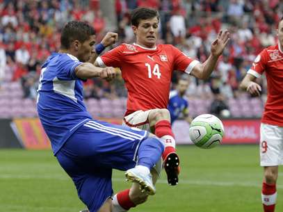 Suíça e Chipre fizeram jogo fraco pelas Eliminatórias Foto: AP