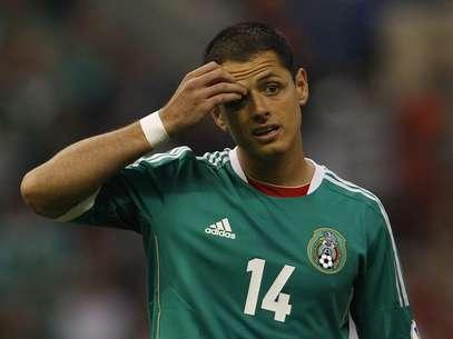 Chicharito lamenta chance desperdiçada pelo México na partida Foto: Reuters