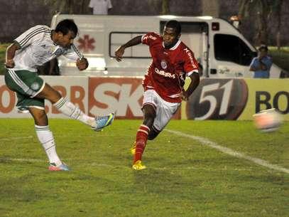 Vinícius abriu o placar no primeiro tempo para o Palmeiras Foto: Frankie Marcone / Futura Press