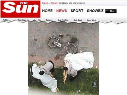Casal foi encontrado morto depois que a janela se quebrou e eles despencaram Foto: The Sun / Reprodução