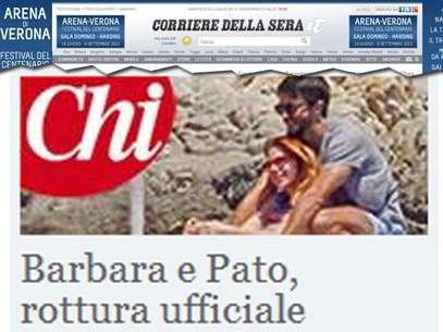Veículos italianos noticiam a suposta traição de Barbara Foto: Corriere Della Sera / Reprodução