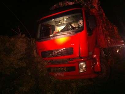 Objeto arremessado de fora atingiu o pescoço do motorista Foto: PRF/RS / Divulgação